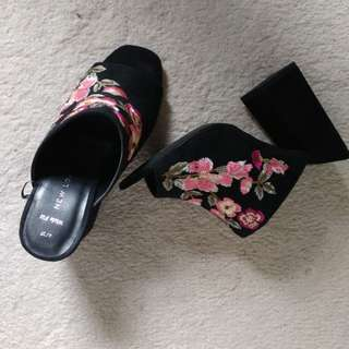 ASOS Floral Embroidered Mules (Wide Fit)