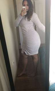 Grey rouched dress 💜