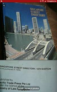 Old vintage singapore book  Singapore street directory  Pick up hougang buangkok mrt taxi stand
