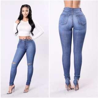 FASHION NOVA Canopy Jeans - Medium Wash