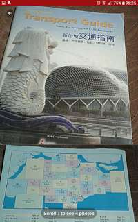 Vintage book collectible  Singapore Transport guide Roads bus services mrt lrt landmarks    Pick up hougang buangkok mrt taxi stand