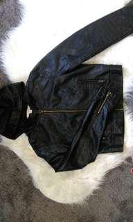 jayjays hooded leather jacket