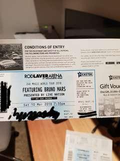 1 x VIP ticket Bruno Mars 10 March