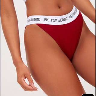 Prettylittlething red knickers