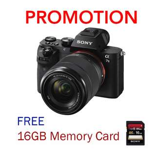 Sony A7 II / A7II / A7 Mark II Mirrorless Camera with FE 28-70 F3.5-5.6 Kit Lens (Free 16GB Card)