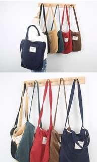 appliqued corduroy tote bag Pre-Order