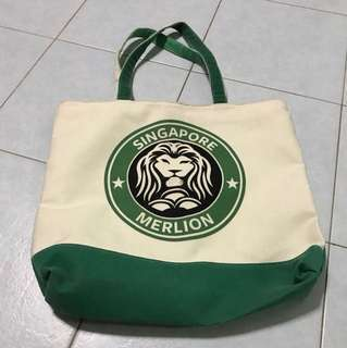 Tote Bag Merlion