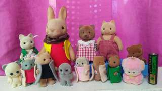 Vintage Original mini dolls for Sylvanians & other dollhouse