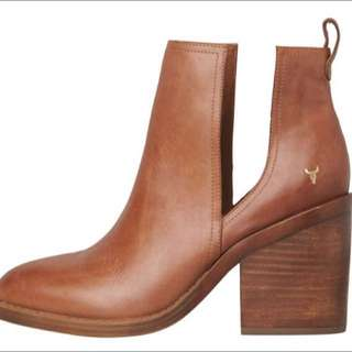 Windsor Smith Sharni Boots Tan Leather Sz 6