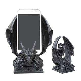 Ancient Crouching Dragon Cell Phone Figurine Stand