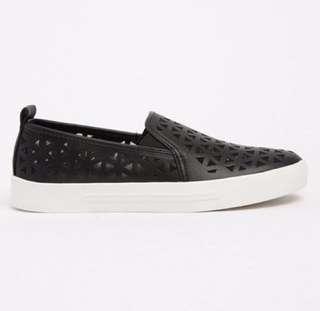 Call It Spring Black Slip On (Size 5)