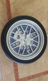 Clock of Car Tyre Design