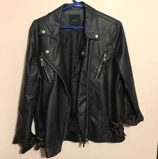 Oversize Leather Jacket