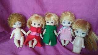Vintage Orig Takara korea mini Dolls