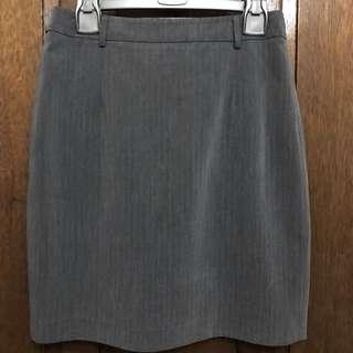 Folio Gray Office Skirt