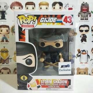 Funko Pop Storm Shadow Black GTS Exclusive Vinyl Figure Collectible Toy Gift Movie Comic GI Joe