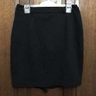 Folio Black Office Skirt