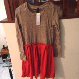 Fake 2 Piece Dress