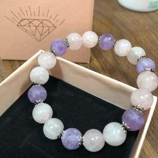 Pink & Violet Crystal Bracelet (new)