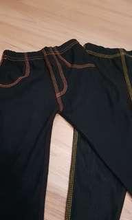 legging anak jeans karet full