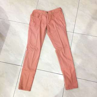 pink peach jeans