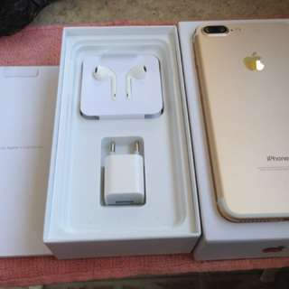 Apple iPhone 7plus 32gb Gold Factory Unlock Complete