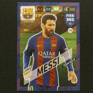 17/18 Panini Adrenalyn FIFA Base Card - MESSI #Barcelona 巴塞隆拿