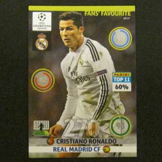 14/15 Panini Adrenalyn Champions League Update Fans' Favourite - Cristiano RONALDO #Real Madrid