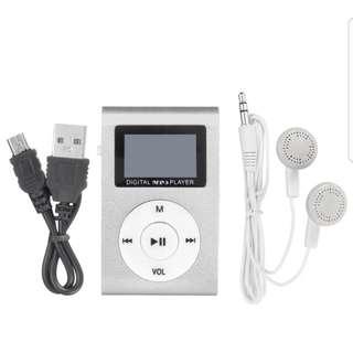 Mini Mental USB Music Clip MP3 Player LCD Screen