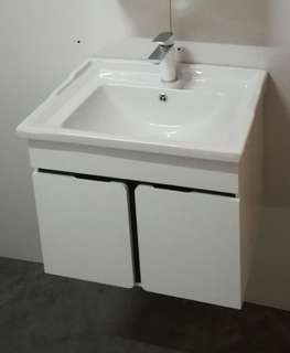Basin With Aryclic Cabinet