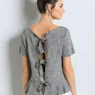 Ribbon Back OOTD Top