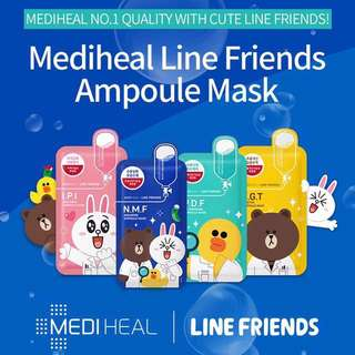 🌈Mediheal Line Friend Mask 10pcs