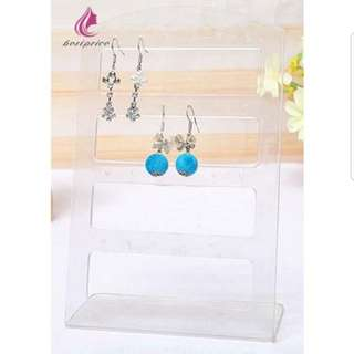 SALE! New Clear Transparent Earrings Display Holder