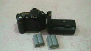 Nikon D90 body with Nikon battery grip.