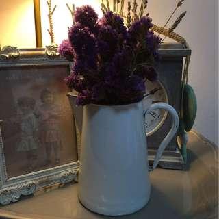 Vintage Enamel Milk jar