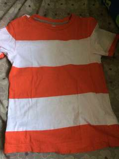 Old navy stripe shirt 6-7 years old