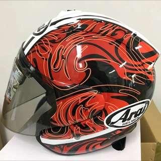 Arai Ram3 Helmet Riptide Red [ Full Convert Fibreshell ]