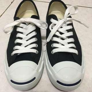Converse黑色開口帆布鞋