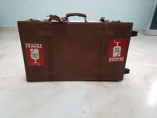 Vintage travel Luggage in brown