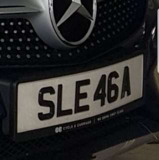 Nice Number Plate: SLE46A