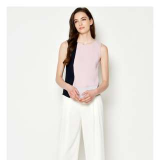 FAUSIA COLOURBLOCK TOP PINK FROM L&B