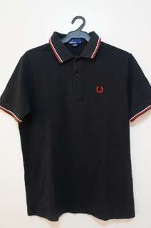 Fred Perry black collared shirt