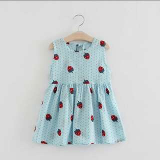 Baby strawberry print dress