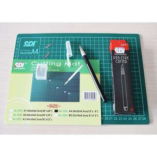 Cutting mat + cutting pen