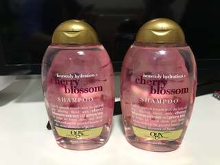 2 bottles of OGX shampoo: Heavenly hydration + cherry blossom