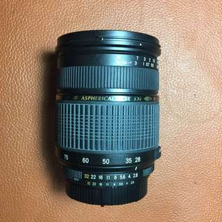 Tamron sp 28-75mm f2.8 nikon mount (can be use on fullframe)