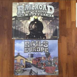 (Rare) Railroad tycoon + Rails Of Europe New Board Game