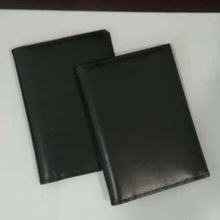 Passport cover black 2 pieces (new)