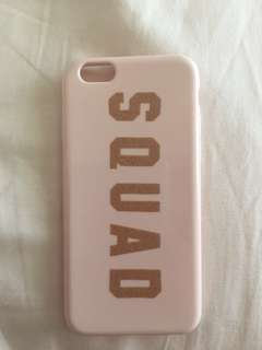 iphone 6 'SQUAD' Baby Pink Case