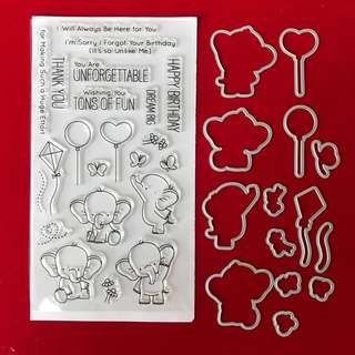 Birthday Stamp and dies scrapbooking